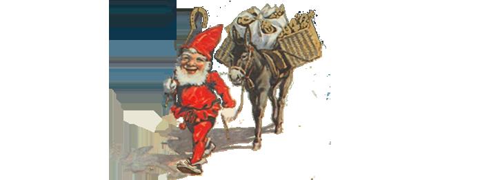 Zwerg mit Esel