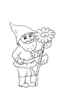 Zwerg und Blume