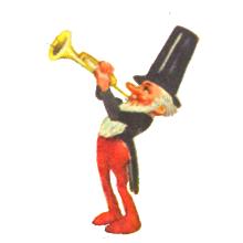 Zwerg mit Trompete